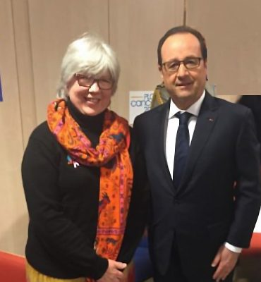 Catherine Vergely (Isis/UNAPECLE) et le Président François Hollande