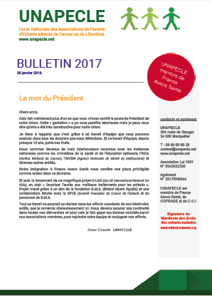 UNAPECLE Bulletin 2017 couv