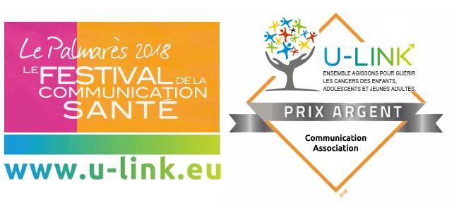 Prix communication santé association - trophée d'argent - U-LINK