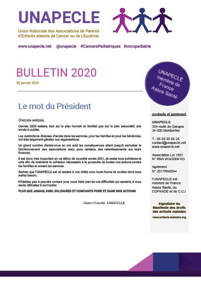 Bulletin 2020 UNAPECLE couverture